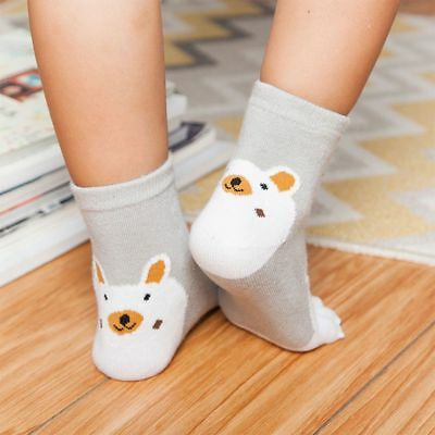 Breathable  Kawaii Kids Mesh Toes For Girl Foot Boy Fingers Five Bear Socks