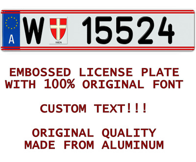AUSTRIA AUSTRIAN Customized Personalized ALL European Union Euro license plate