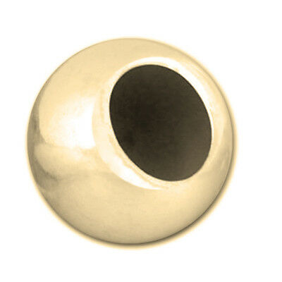 4mm Gold Large Hole Beads, 30pc, 14kt Gold Filled Round Seamless Spacers, Big Ho
