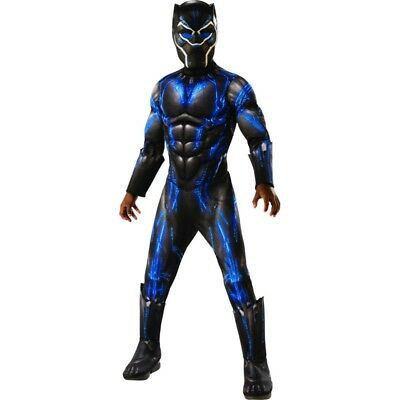 Black Panther Deluxe Battle Suit Child Costume, 641049, Rubies