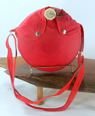 Vintage Boy Scouts of America Canteen Snap Canvas/Cloth Covered Red bbb630