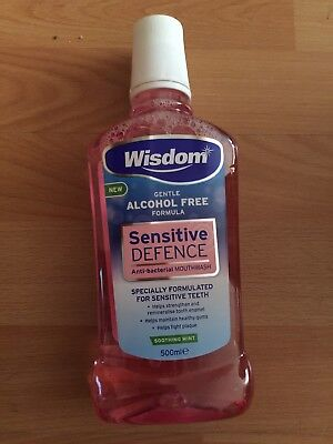 Wisdom Sensitive Defence Mouthwash 500ml
