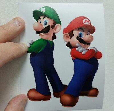 Mario & Luigi sticker. 4 x 5.5. (Buy 3 stickers, GET ONE FREE!)