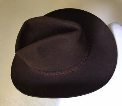 73c26aae649e8 Brown Resistol Roundup Collection Men s Hat with Woven Leather Head Band 7  1 8