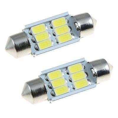 2 X Blanc 36mm Samsung 6SMD 5630 Canbus Guirlande LED Ampoule Paire