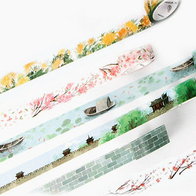 DIY Chic Flower Adhesive Washi Tape Kawaii Decorative Masking Tape Scrapbooking