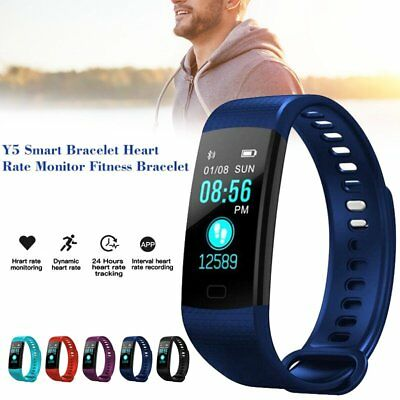 Y5 Color Screen Smart Band Heart Rate Blood Pressure Activity Fitness Tracker AU