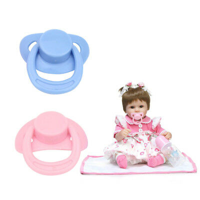 2pcs Magnetic Pacifier Dummy For Reborn Baby Dolls Pink Blue Randomly Ship Hot