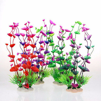 Fish Tank Aquarium Decor Accessories Artificial Plastic Underwater Grass  Pro.