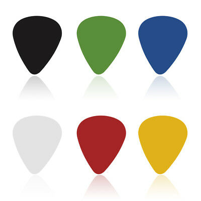 100X Electric Guitar Bass  Pic Acoustic Music Pick Plectrum Assorted Thickness