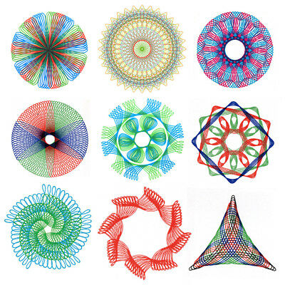 27Pcs Original Spirograph Design Set Tin Draw Drawing Kids Art Craft Create