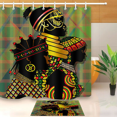 Afrocentric African Shower Curtain Set Africa Troditional Apparel Indigenous