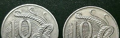 10 Cent Coins Cud Errors. Nice Visible Examples. 2001 & 2005