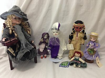 "6x LOT 5""-16"" DOLLS including Bradley Dolls, Anne of Green Gables, EFC"
