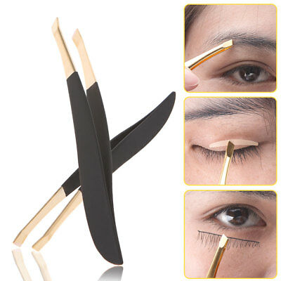 Pro Women Stainless Steel Hair Removal Eyebrow Tweezers Clip Beauty Makeup Tools