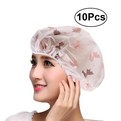Waterproof Shower Bath Cap with Design for Adults 10 pieces