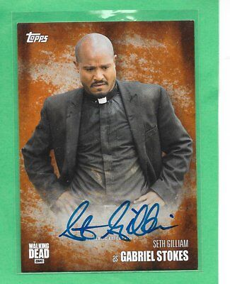 2016 TOPPS The Walking Dead Season 5 Autograph Seth Gilliam as Gabriel Stokes