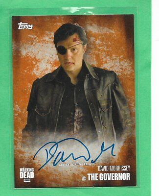 2016 TOPPS The Walking Dead Season 5 Autograph David Morrissey as The Governor