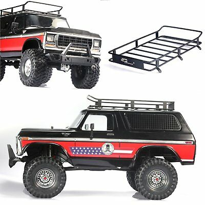 Metal Roof Luggage Carrier Rack For TRAXXAS TRX4 Ford Bronco TRX490046 90047 RC