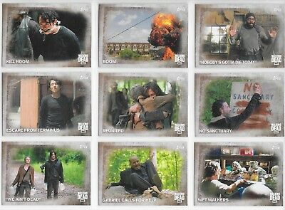 2016 TOPPS The Walking Dead Season 5 100 card Base Set + Wrapper