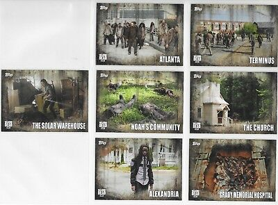2016 TOPPS The Walking Dead Season 5 LOCATION card Insert Chase Set L1-L7