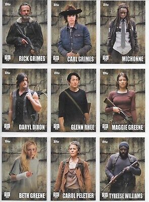 2016 TOPPS The Walking Dead Season 5 CHARACTER card Insert Chase Set C1-C18