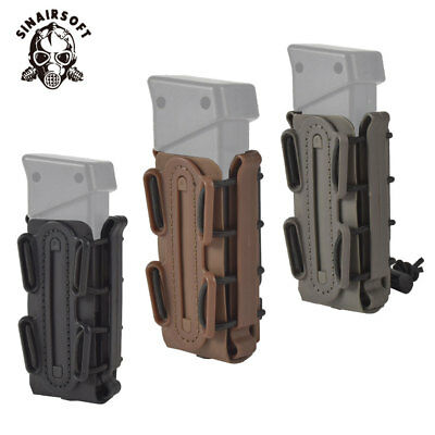 Tactical 9mm Scorpion Soft Shell Pistol Magazine Pouch Carrier Tall W/ Belt Loop