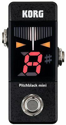 New!! Official KORG Pitchblack Mini PB01MINI Black Pedal Tuner from Japan Import