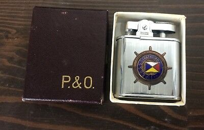 Vintage P & O  SS Strathaird Cruise Line Lighter In Original Box, Appears Unused
