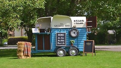 Mobile Vintage Rice Horse Box Trailer Weddings & Events Bar Hire