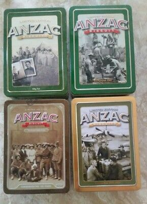 Anzac Biscuit Limited Edition Collectable Tins x 4  #01