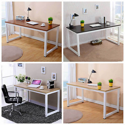 Computer Desk Study Writing Table Home Office WorkStation Wooden Metal Furniture