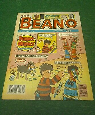 VINTAGE BEANO COMIC COLLECTABLE BIRTHDAY ANNIVERSARY GIFT 2563 AUGUST 31st 1991