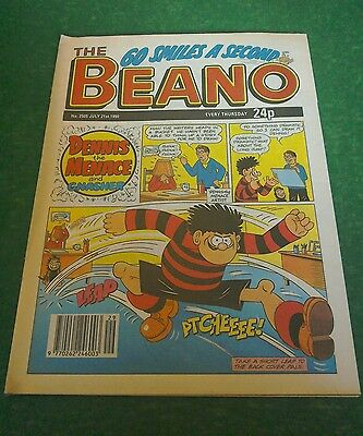 VINTAGE BEANO COMIC COLLECTABLE BIRTHDAY ANNIVERSARY GIFT 2505 JULY 21st 1990