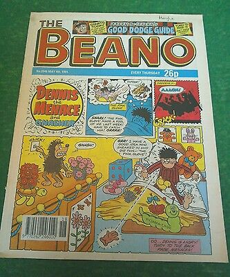 VINTAGE BEANO COMIC COLLECTABLE BIRTHDAY ANNIVERSARY GIFT 2546 MAY 4th 1991
