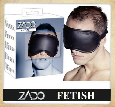 Mascherina in pelle Leather Eye Mask ZADO FETISH BONDAGE Sexy Toy Benda Cuoio xx