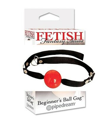 Morso in gomma Beginners Ball Gag Red Fetish Fantasy Sexy shop bavaglio palla