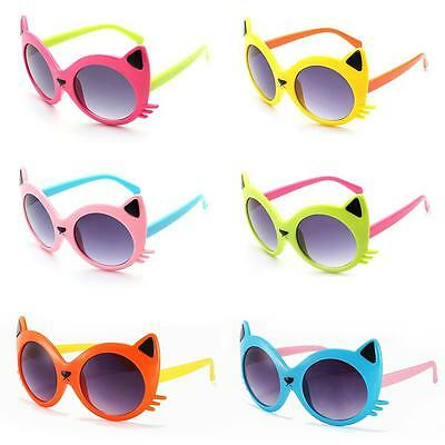 Baby Girls Boy 6 Colors Cartoon Cat UV400 Eyeglasses Toddler Baby Sunglasses