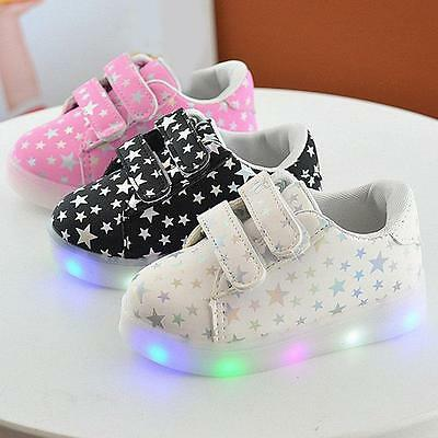 Baby Toddler Boys girls Kids Luminous Sneakers Light Up Shoes LED Shoes