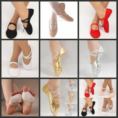 US Ballet Dance Gymnastics Toe Shoes Kids Girls Women Profession Dancewear Shoes