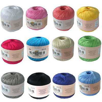DIY 1 Ball Crochet Cotton Cord Thread Yarn for Embroidery Crochet Knitting Gift