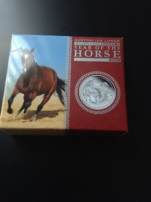 2014 Australian Perth Mint Lunar Year of the Horse 0.5oz Silver Proof