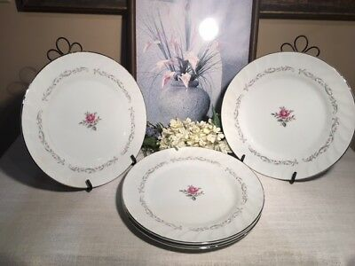 """Dinner Plate 10.25"""", Set of 4, Royal Swirl, Fine China of Japan,Great Condition"""