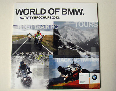 BMW . Motorrad . World of BMW . Activity Brochure 2012