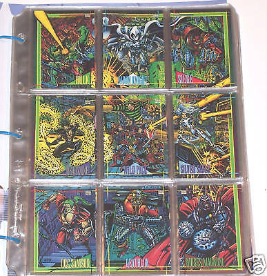1993 Marvel Universe Set With Red Foil Insert Set and H-IV Hologram, Master Set
