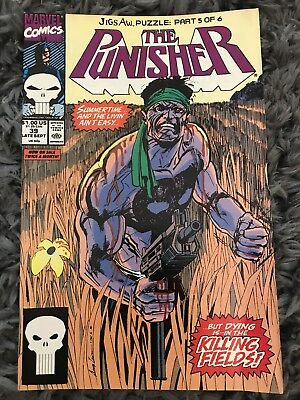 PUNISHER 39 VOL. 2 1987 MARVEL COMICS BILLY RUSSO JIGSAW PUZZLE PT. 5 of 6. NM-