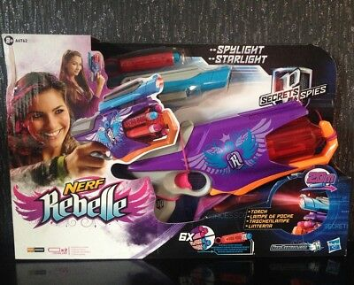 Nerf Rebelle Secret Spies Spylight Starlight Girls Blaster Gun + Torch Darts NEW