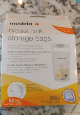 NEW MEDELA Breast Milk Storage Bags 50 Count