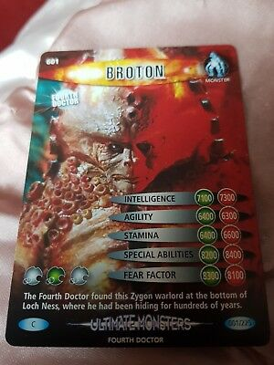doctor who ultimate monsters cards x a set of common and rare cards x 210 cards