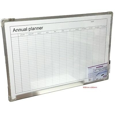 Magnetic Whiteboard Large Dry Wipe Home Office School Monthly Annual Planner